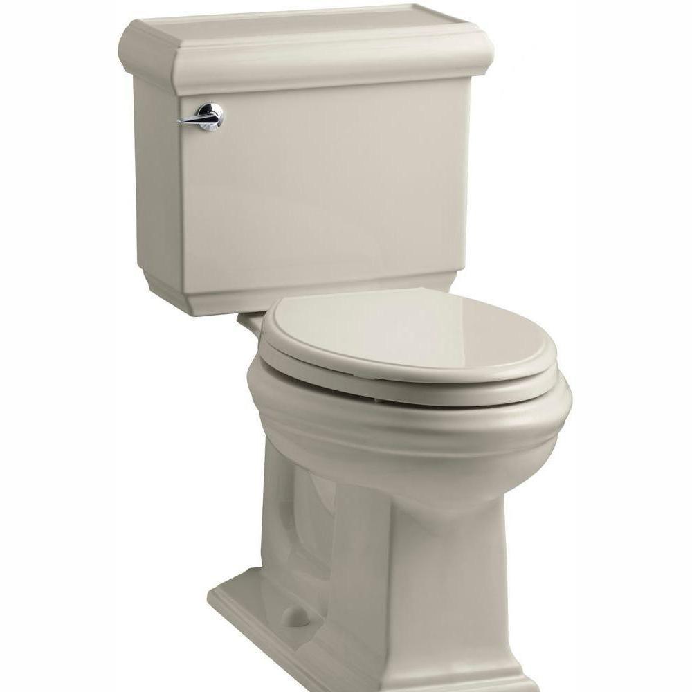 KOHLER Memoirs Classic 2-piece 1.28 GPF Single Flush Elongated Toilet with AquaPiston Flush Technology in Sandbar