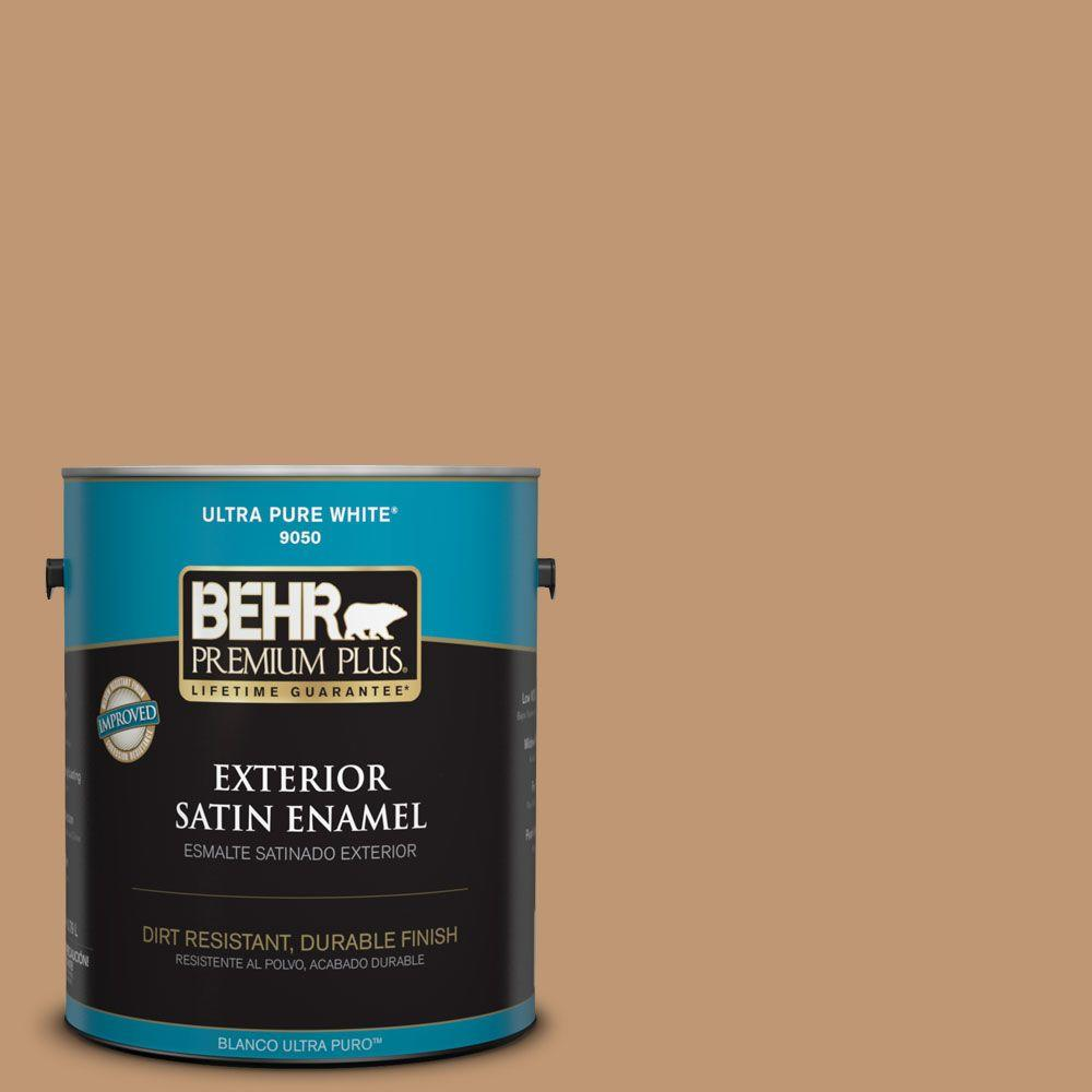 1-gal. #270F-5 Wilmington Tan Satin Enamel Exterior Paint