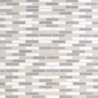 Queen Brick Cold Mix 10.6 in. x 12.75 in. 12mm Matte Clay Mosaic Wall Tile (0.94 sq. ft.)