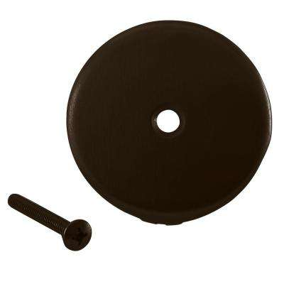 3-1/8 in. Dia 1-Hole Bathtub Overflow Face Plate and Screw in Oil Rubbed Bronze