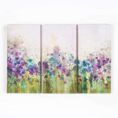 12 in. x 24 in. Watercolor Meadow by Graham and Brown Printed Canvas Wall Art (set of 3)