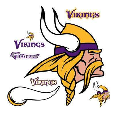 51 in. H x 41 in. W Minnisota Vikings Logo Wall Mural