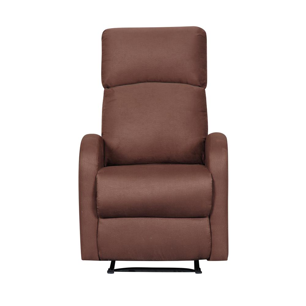 ARTIVA Modern Home Slim Design Brown Microfiber Recliner ...