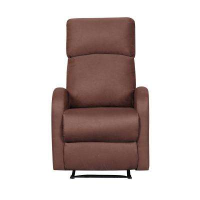 Modern Home Slim Design Brown Microfiber Recliner