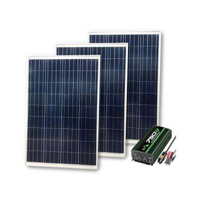 1050-Watt Power Kit: 300 Watts of Solar, 750 Watt Inverter and 30 Amp Charge Controller