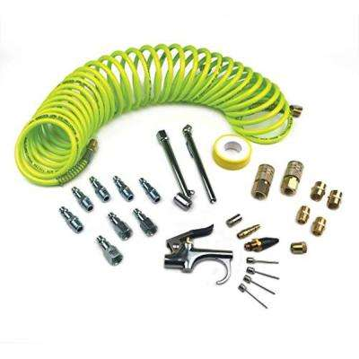 IK1018P 27-Piece Pro Accessory Kit with Flexible Poly Recoil Hose 27-Piece
