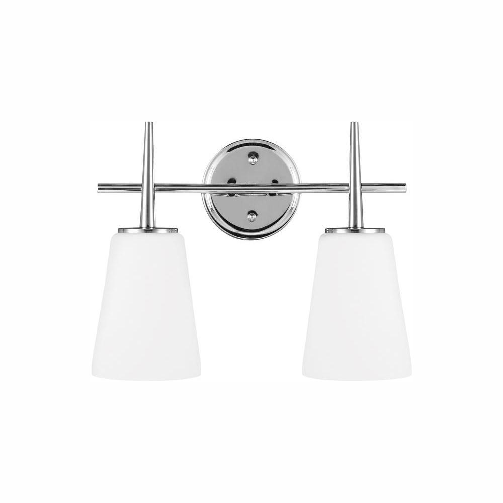 Driscoll 2-Light Chrome Bath Light with LED Bulbs