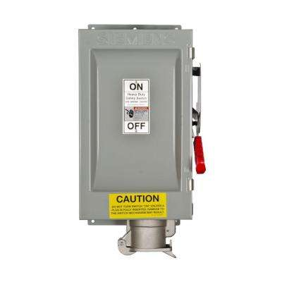 Heavy Duty 60 Amp 600-Volt 3-Pole Type 12 Fusible Safety Switch with Receptacle