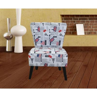 Multi Color Fabric Accent Chair