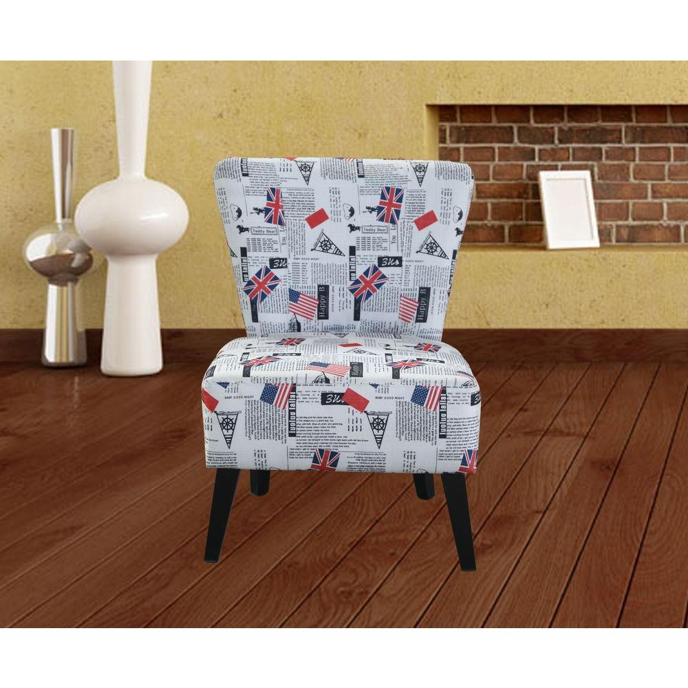 Multi color fabric accent chair c 054 the home depot for Multi coloured fabric dining chairs