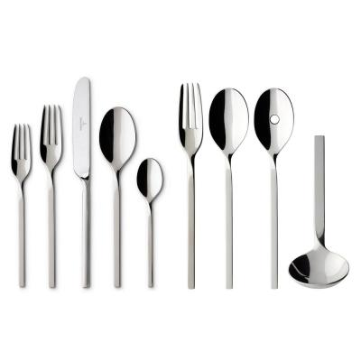 New Wave 64-Piece Stainless Steel Flatware Service for 12