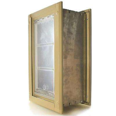6 in. x 11 in. Small Single Flap for Walls with Tan Aluminum Frame