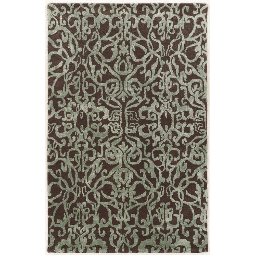 Linon Home Decor Allure Wool Crystal Brown Blue 8 Ft X 11 Ft Area Rug