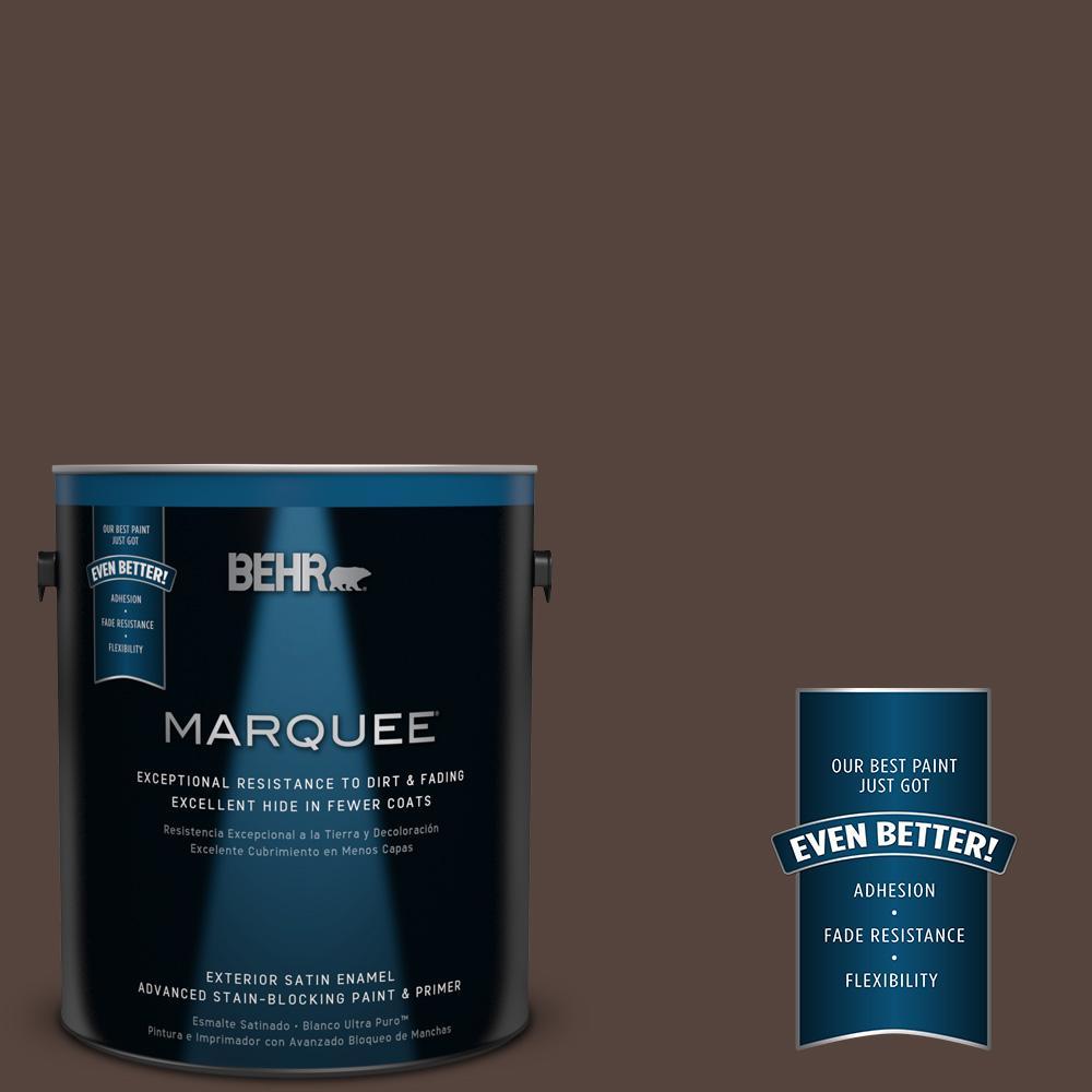 BEHR MARQUEE 1-gal. #780B-7 Bison Brown Satin Enamel Exterior Paint