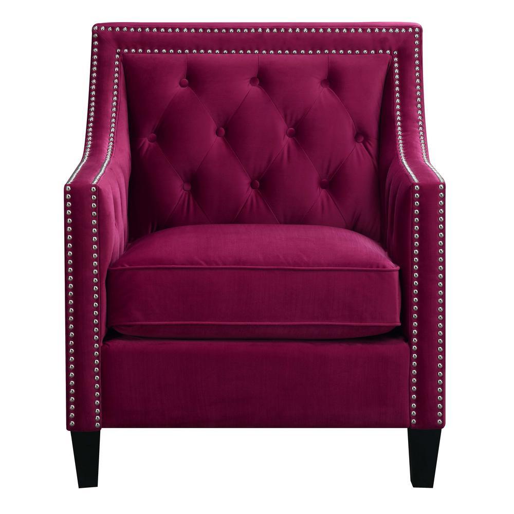 Teagan Red Accent Chair