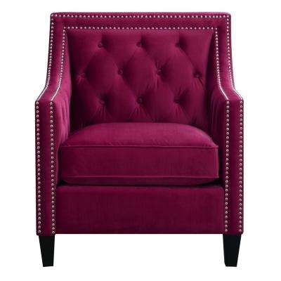 Custom Red Pattern Accent Chair Decoration