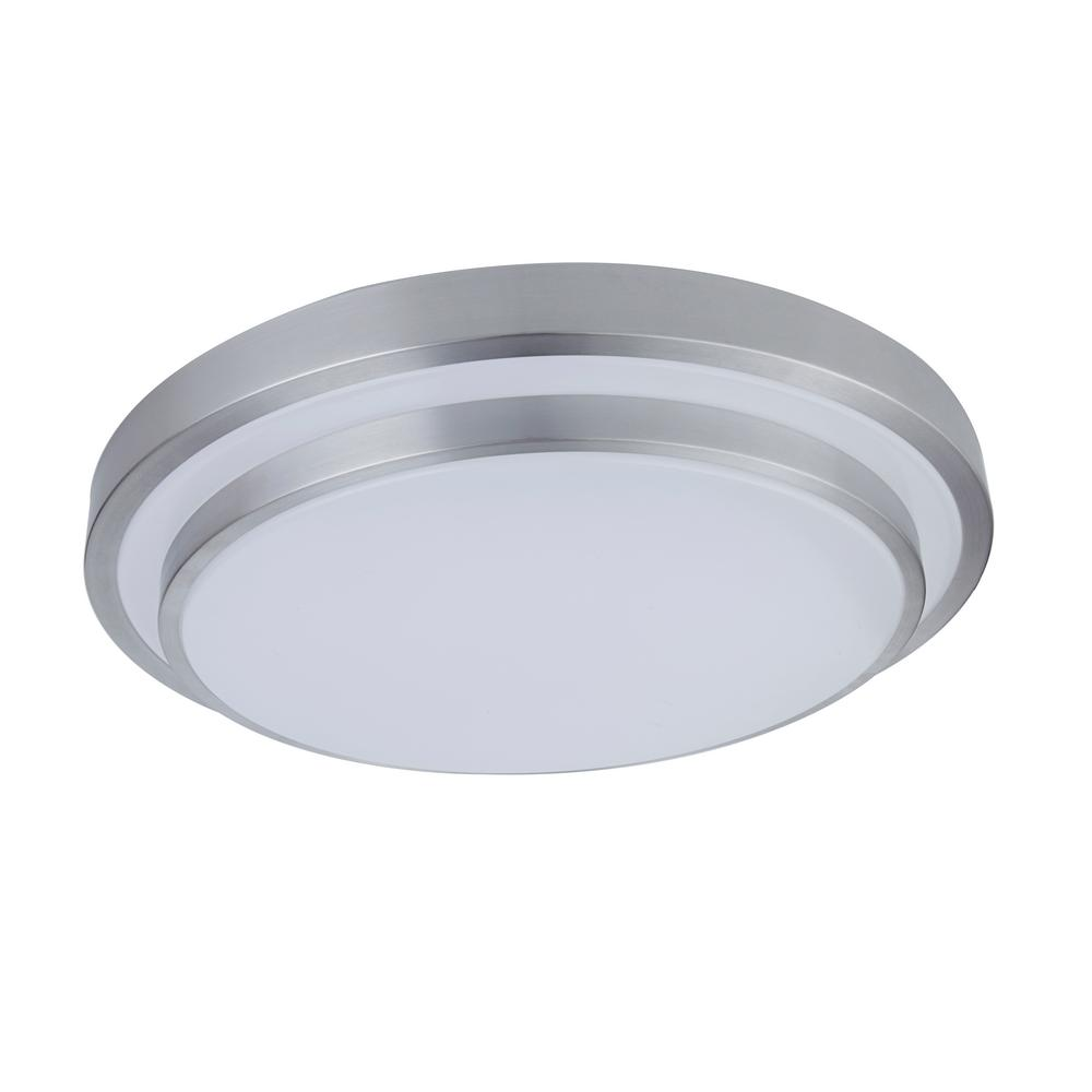 36 Watt Silver And White Integrated Led Ceiling Flush Mount