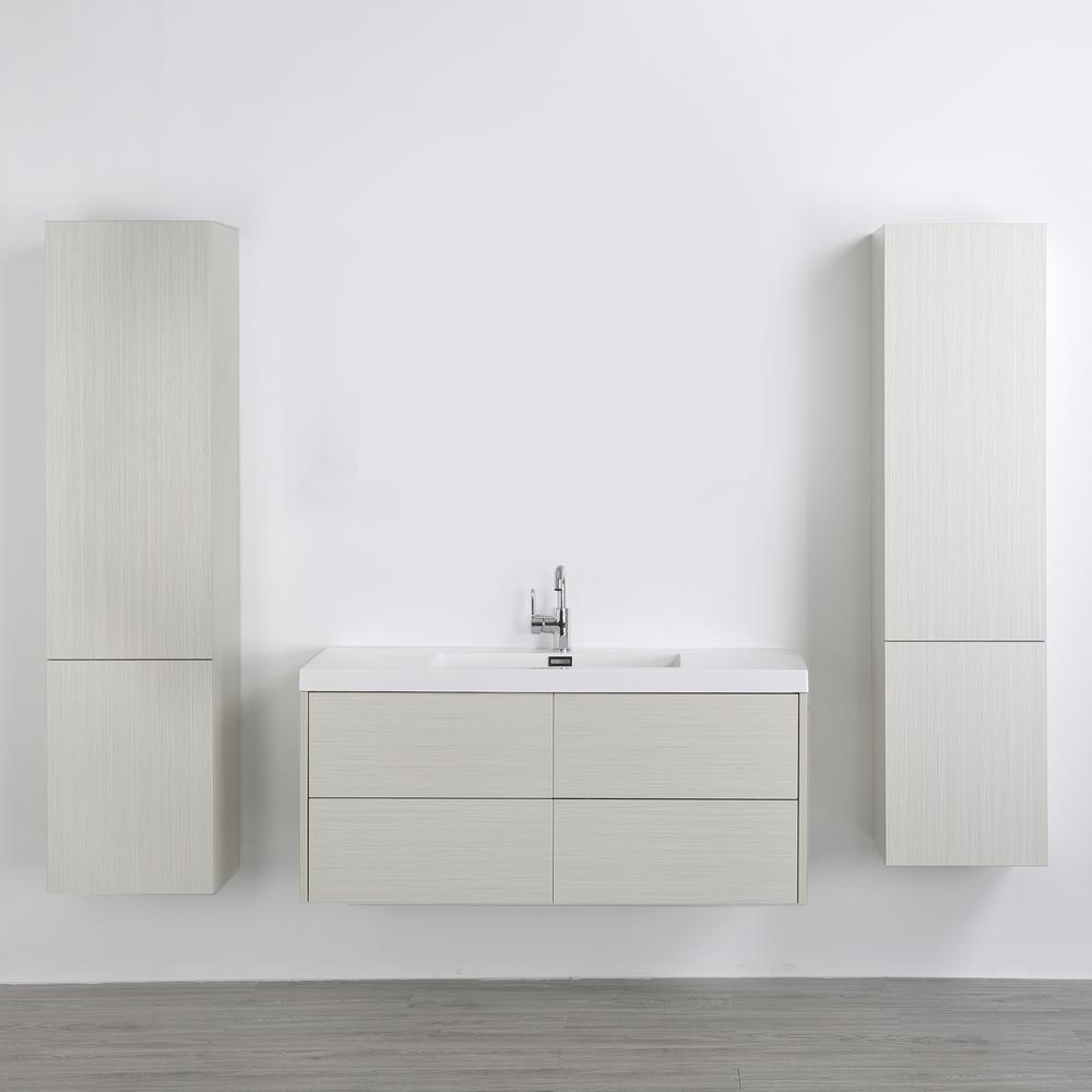 Streamline 47.2 in. W x 19.3 in. H Bath Vanity in Gray with Resin Vanity Top in White with White Basin