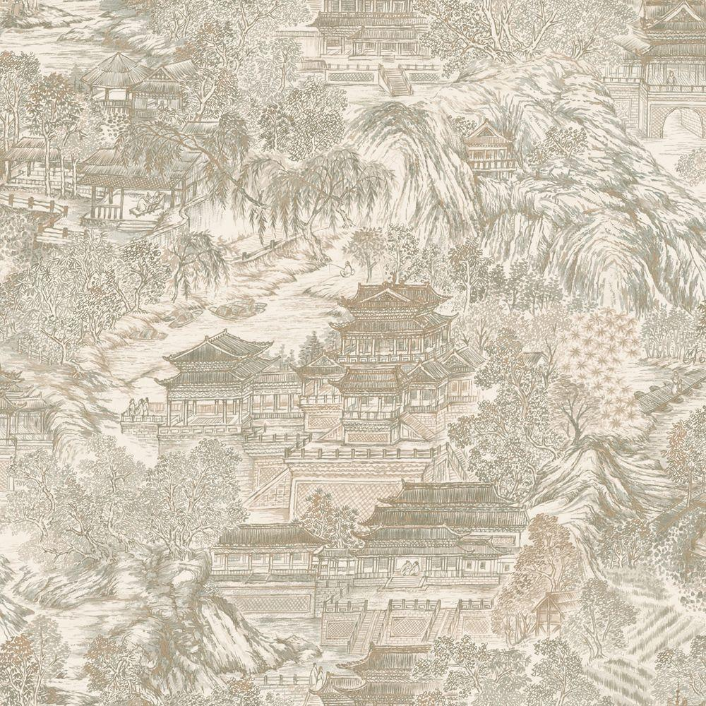 The Wallpaper Company 56 sq. ft. Plaster Great Kingdom Wallpaper