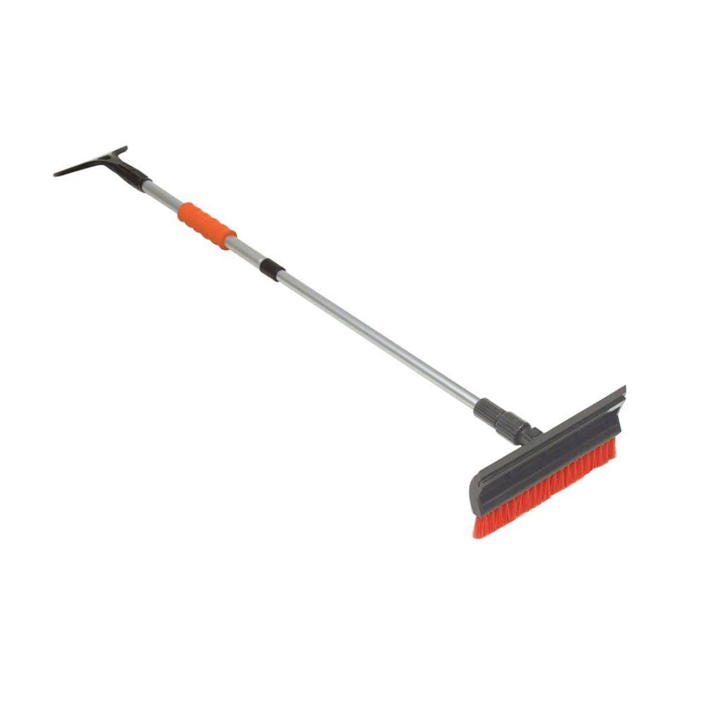 Bigfoot 45 in. Telescoping Snow Broom and Ice Scraper with 11 in. Pivoting Head