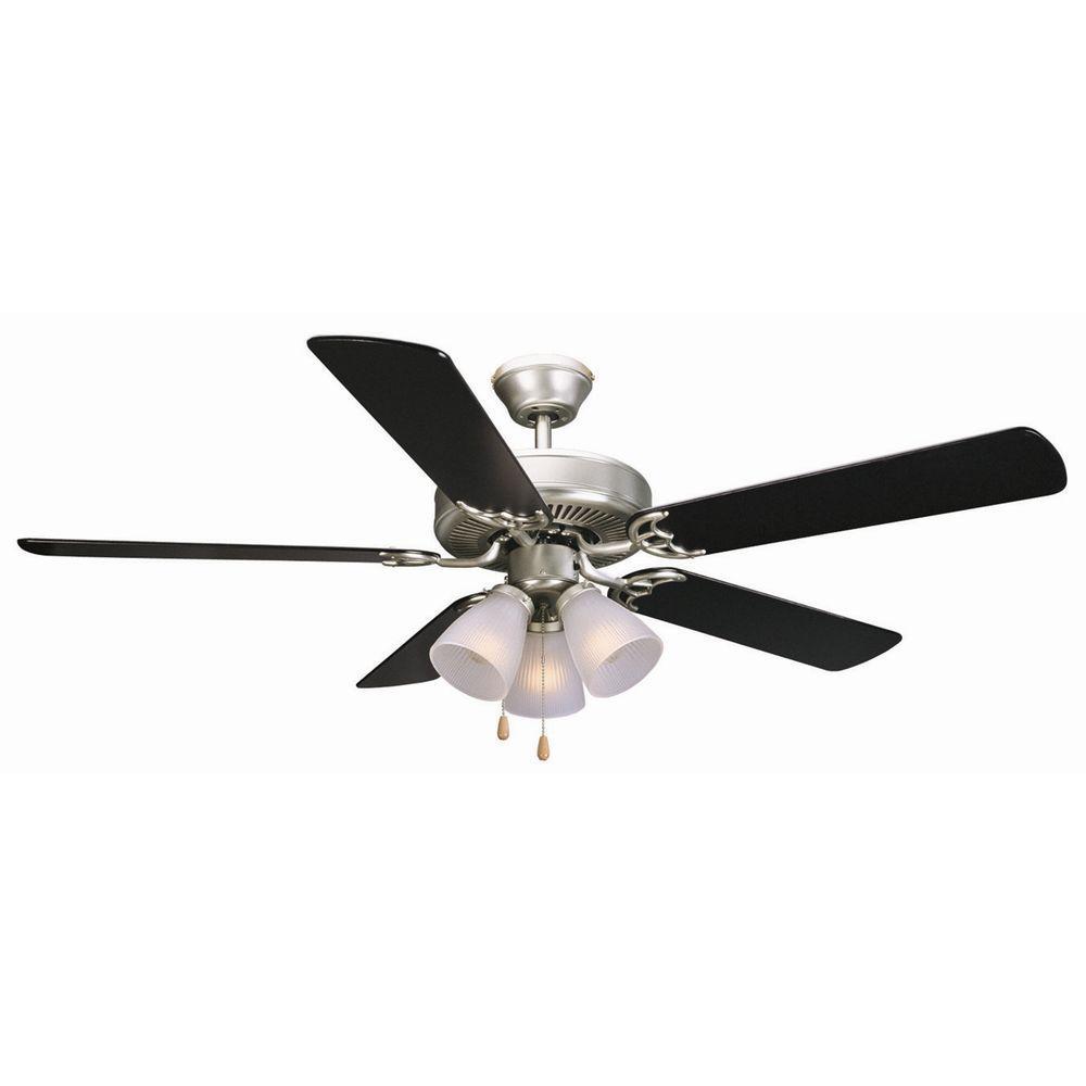 Millbridge 52 in. Satin Nickel Ceiling Fan