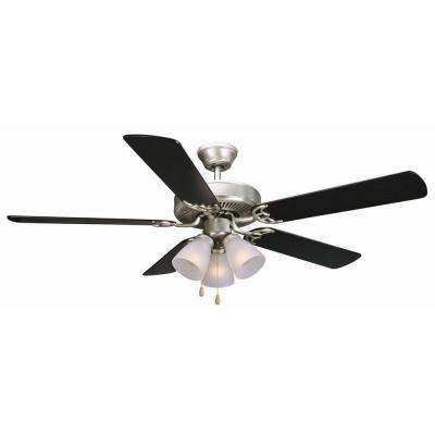 Millbridge 52 in. Satin Nickel Ceiling Fan
