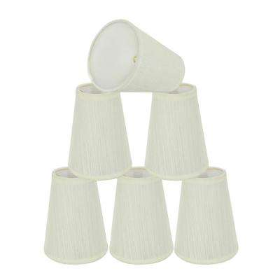 4 in. x 5 in. Off White Hardback Empire Lamp Shade (6-Pack)