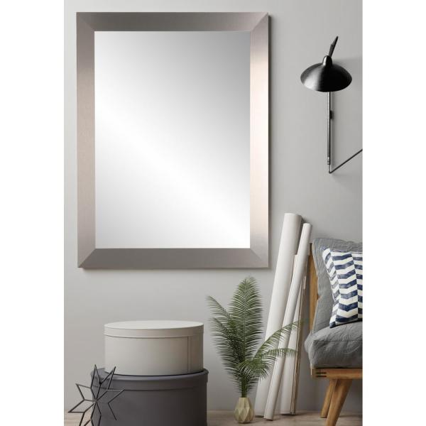 BrandtWorks 32 in. x 35.5 in. Industrial Designs Accent Mirror AV78MED
