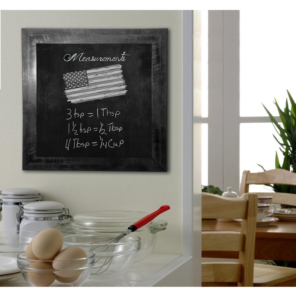 46 in. x 34 in. Black Smoke Blackboard/Chalkboard