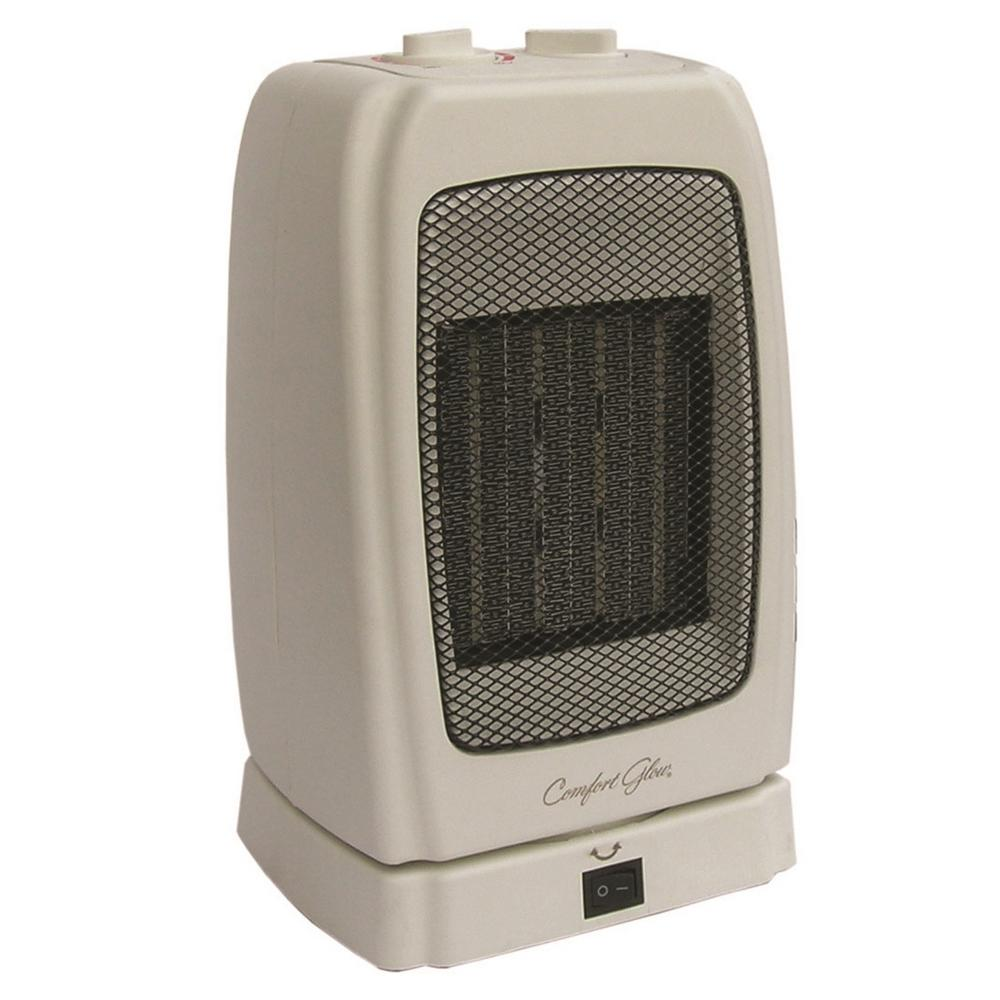 1 500 Watt Electric Convection Portable Heater with Tip Over Protection. Timer   Space Heaters   Heaters   The Home Depot