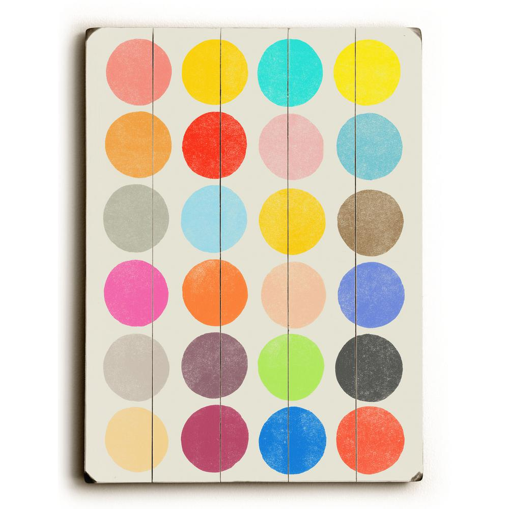 "12 in. x 16 in. ""Color Play by Garima Dhawan ""Planked"
