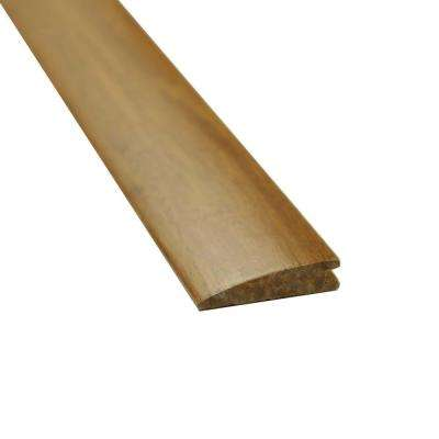 Carbonized 9/16 in. Thick x 2 in. Wide x 72-3/4 in. Length Strand Bamboo Reducer Molding