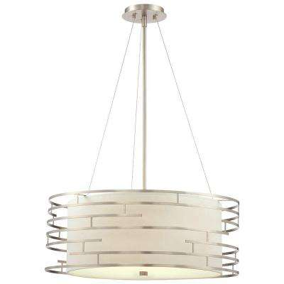 Labyrinth 3-Light Satin Nickel Hanging Pendant