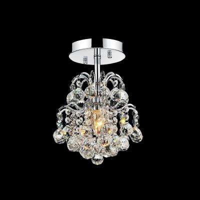 Blossom 1-Light Chrome Flush Mount
