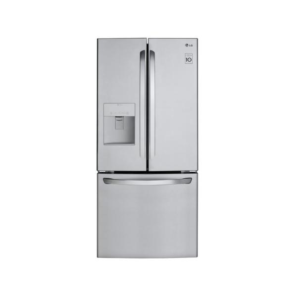 LG Electronics 21.8 cu. ft. French Door Refrigerator with External Water Dispenser in Stainless Steel