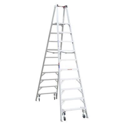 Louisville Ladder 16 Ft Aluminum Platform Step Ladder With 300 Lbs Load Capacity Type Ia Duty Rating Ap1016 The Home Depot