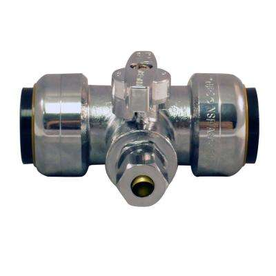 3/4 in. Push-to-Connect x 3/4 in. Push-to-Connect x 1/4 in. Compression Service Stop Tee