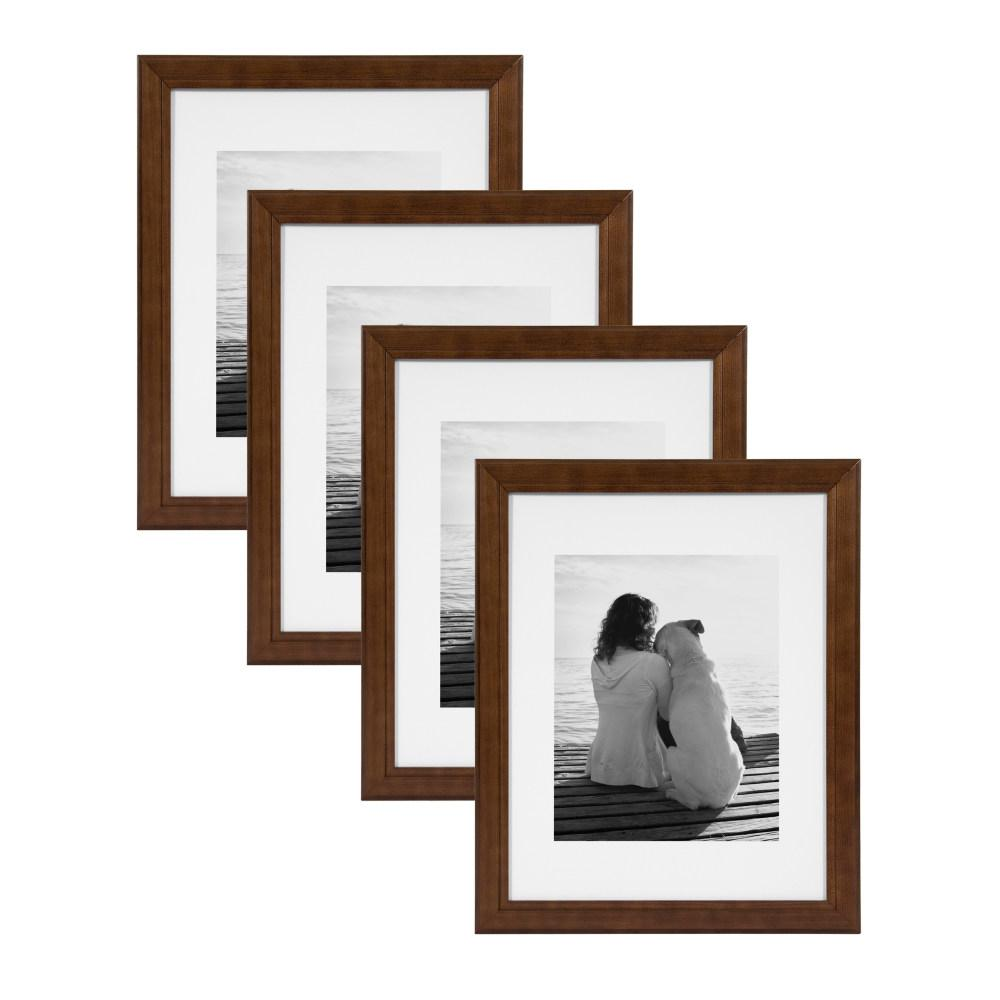 Designovation Kieva 11x14 Matted To 8x10 Brown Picture Frame Set Of