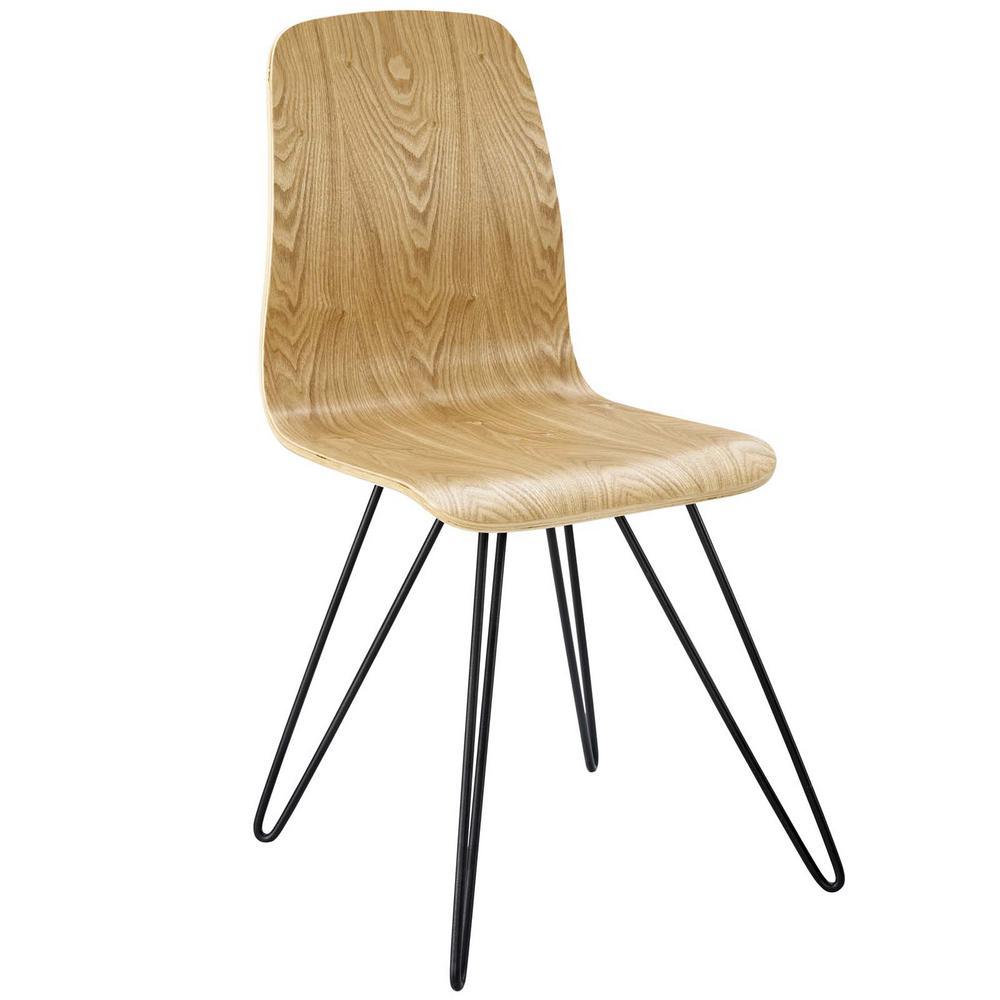 MODWAY Drift Bentwood Natural Wood Dining Side Chair EEI-2671-NAT