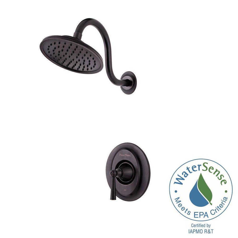 Saxton Single-Handle Shower Faucet Trim Kit in Tuscan Bronze