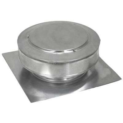 13 in. x 5 in. Aluminum 8 in. Dia Low Profile 50 sq. in. NFA Roof vent in Mill Finish