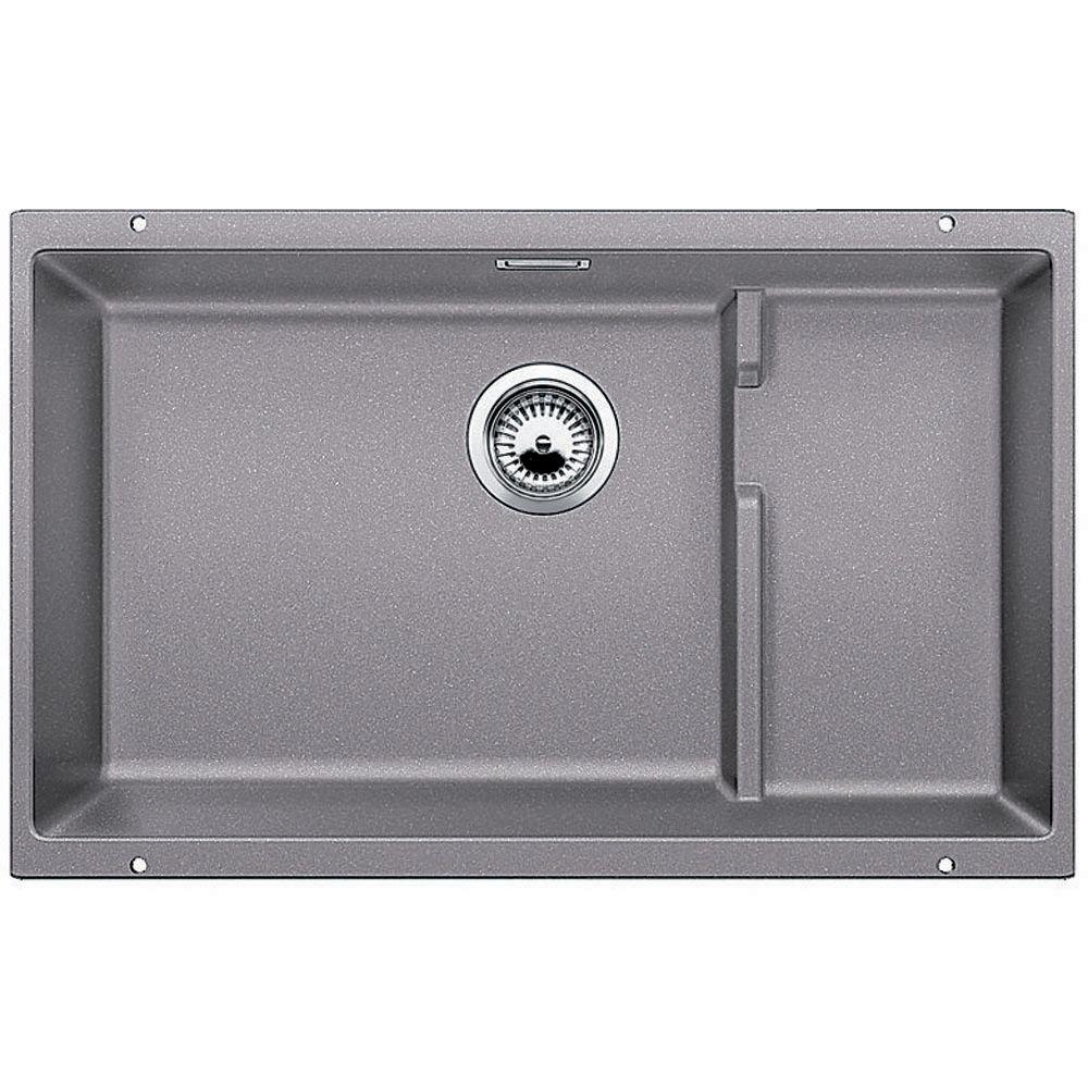 Blanco Precis Cascade Undermount Granite Composite 29 In Single Bowl Kitchen Sink Metallic Gray