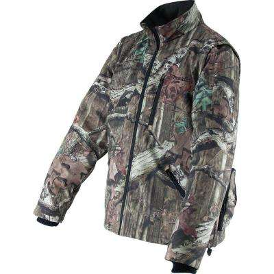 Men's Medium Camouflage Mossy Oak Camo 18-Volt LXT Lithium-Ion Cordless Heated Jacket