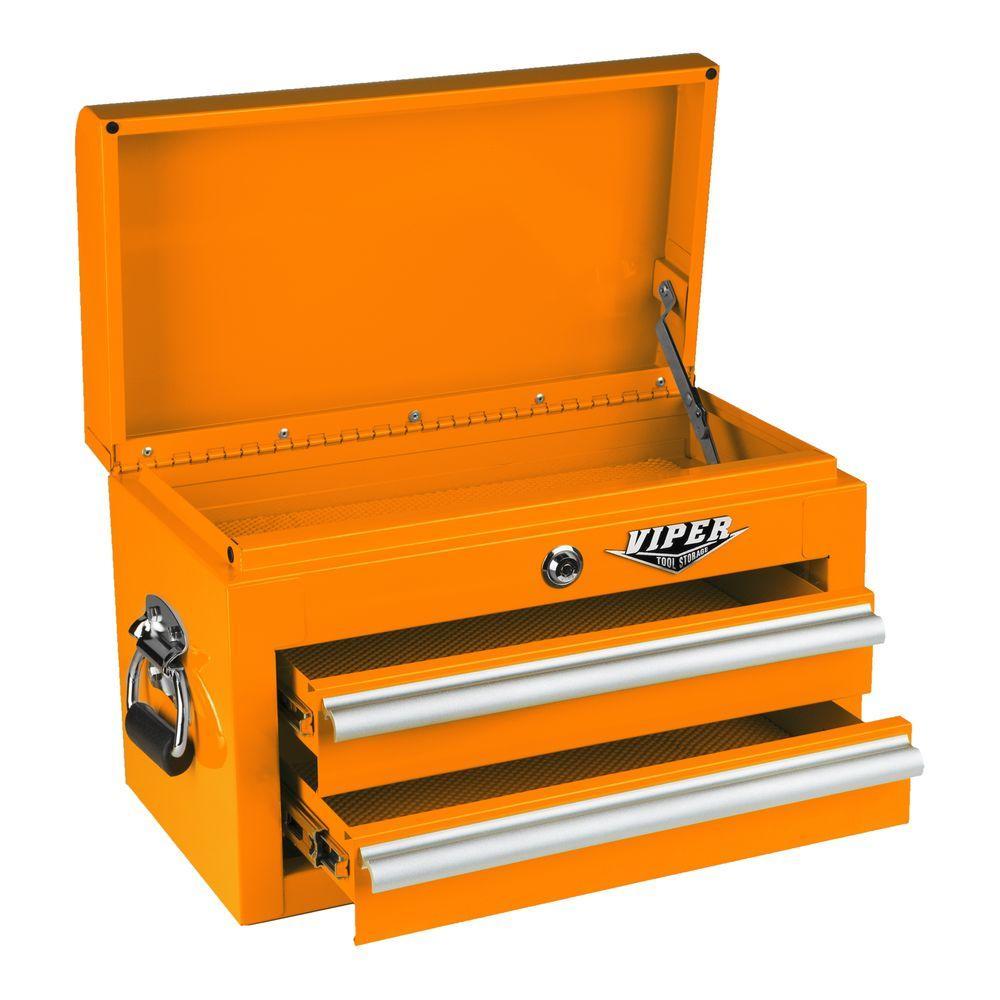 Viper Tool Storage 18 in. 2-Drawer Mini Chest in Orange