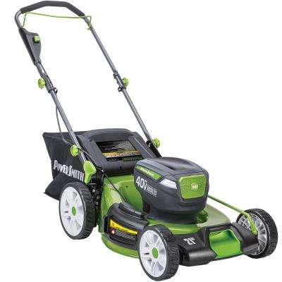 21 in. 40-Volt Lithium-Ion Brushless Cordless Walk Behind Push Mower with two 2.5 Ah Batteries and Charger Included