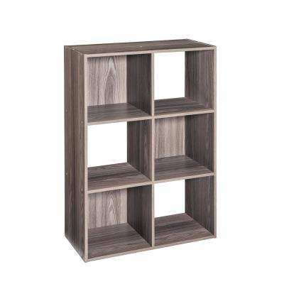24 in. x 36 in. Gray Stackable 6-Cube Organizer