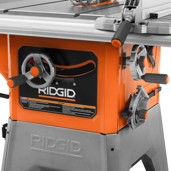 Ridgid 13 Amp 10 In Professional Cast Iron Table Saw R4520 The Home Depot