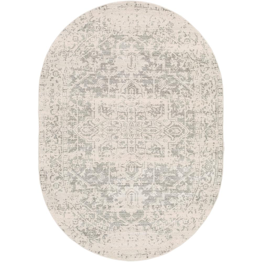 Artistic Weavers Demeter Gray 6 ft. 7 in. x 9 ft. Oval Oval Area Rug was $320.01 now $160.32 (50.0% off)