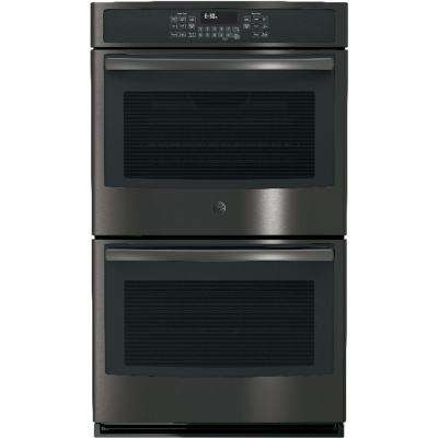 30 in. Double Electric Wall Oven Self-Cleaning with Convection in Black Stainless Steel, Fingerprint Resistant