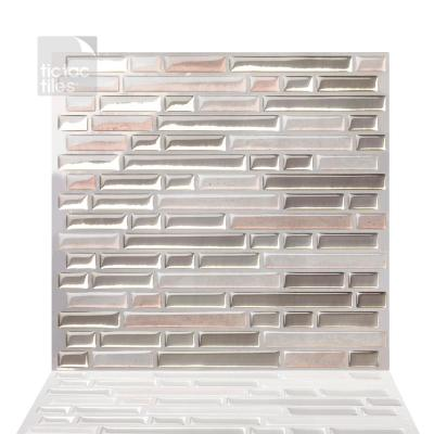 Como Sand 10 in. W x 10 in. H Peel and Stick Self-Adhesive Decorative Mosaic Wall Tile Backsplash (5-Tiles)
